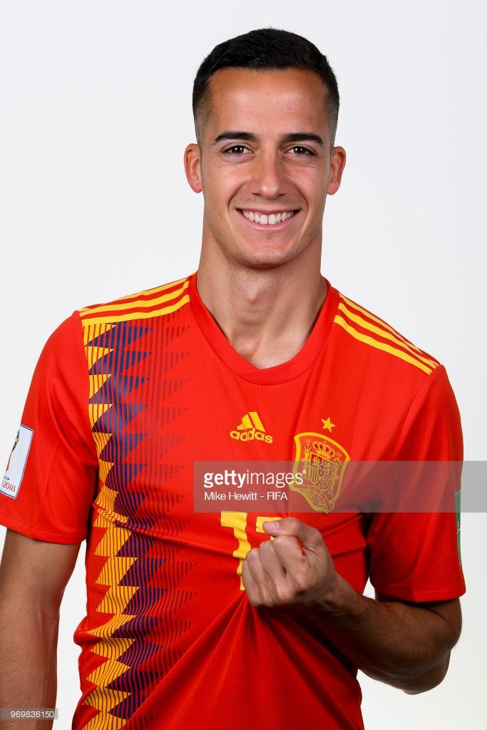 71cf2492b9e4e Lucas Vazquez of Spain poses for a portrait during the official FIFA World  Cup 2018 portrait session at FC Krasnodar Academy on June 8