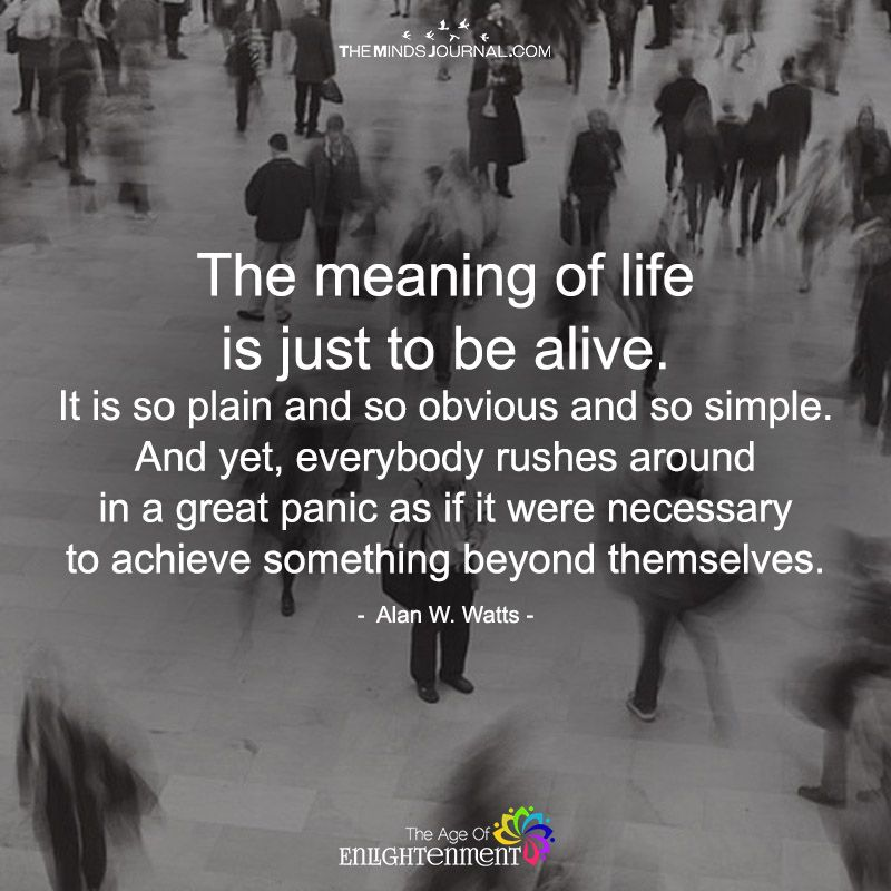 The Meaning Of Life Is Just To Be Alive Meant To Be Quotes Meaning Of Life Life Meaning Quotes