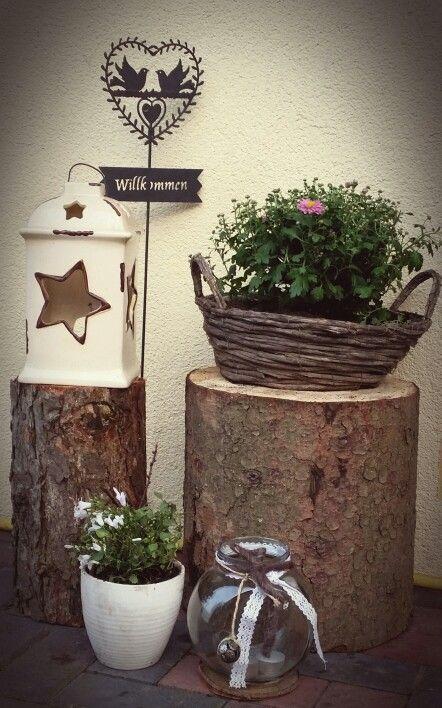 Dekoration Garten Haustr  DEKO  Pinterest