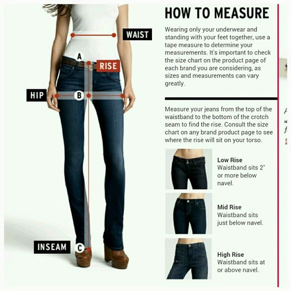 Guide to Measuring the Rise, Inseam, Waist, Hip
