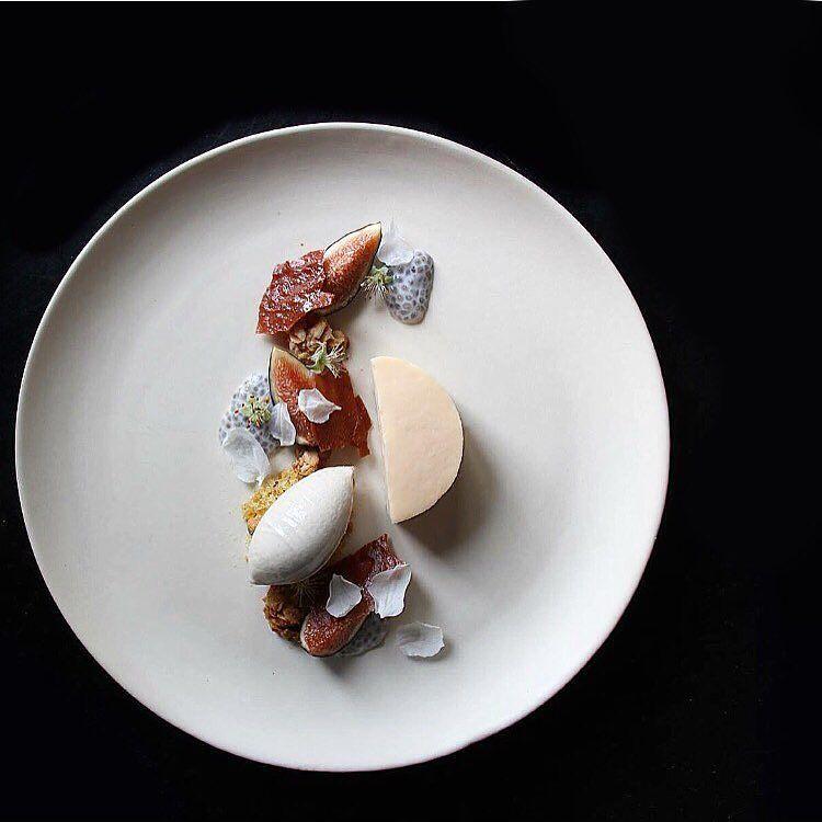 Dessert of Rhubarb & Fig with @seanymacd @ckeverest @datfatcass @cruuzer @realone007 @christopher_landry @louiec9 by rafacovarrubias