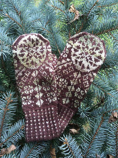 Håndspunnet mysterievotter <3 Mittens, votter, strikking, knitting