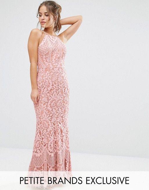 195a7dd10e24 Jarlo Petite Allover Lace High Neck Maxi Dress | Prom? | Jarlo ...
