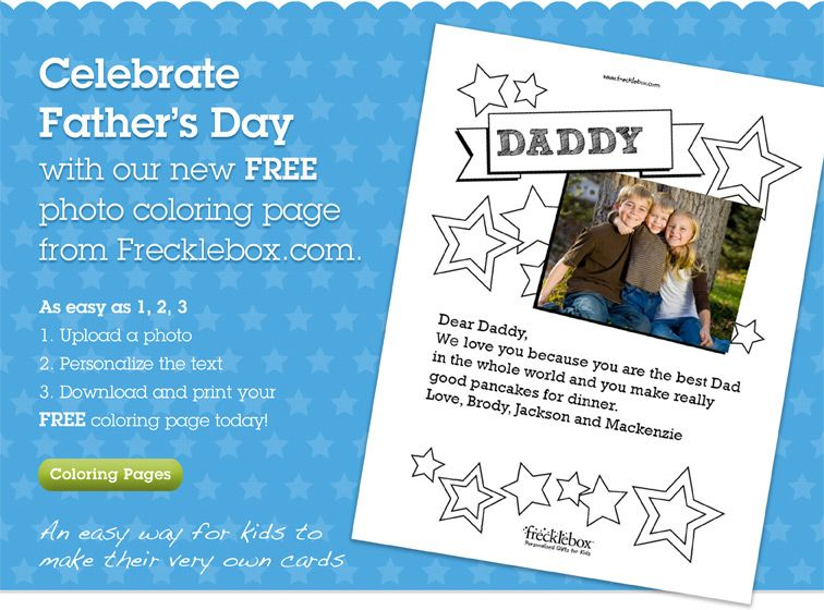 Celebrate Father\'s Day with our new FREE photo coloring page from ...
