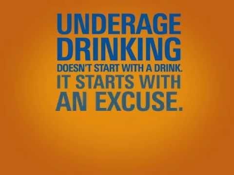 Underage Drinking Starts with an Excuse (+playlist)
