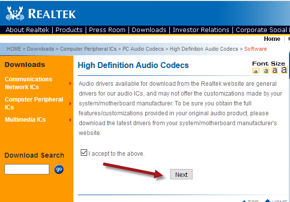 realtek hd audio windows 10