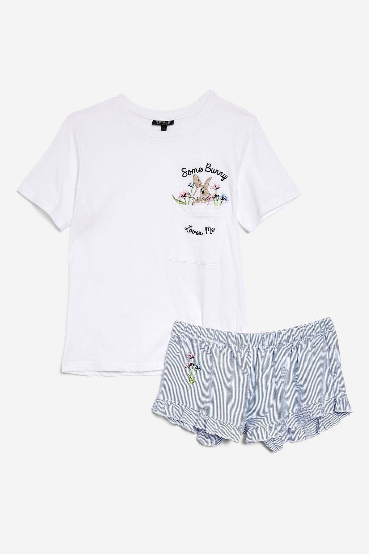 'Some Bunny Loves' Me Jersey Set - Lingerie & Sleepwear - Clothing - Topshop USA