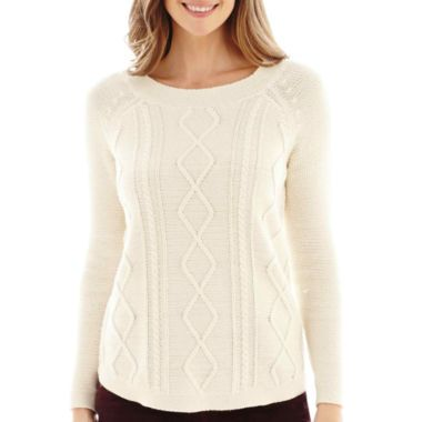 St. John's Bay® Cable Sweater   found at @JCPenney