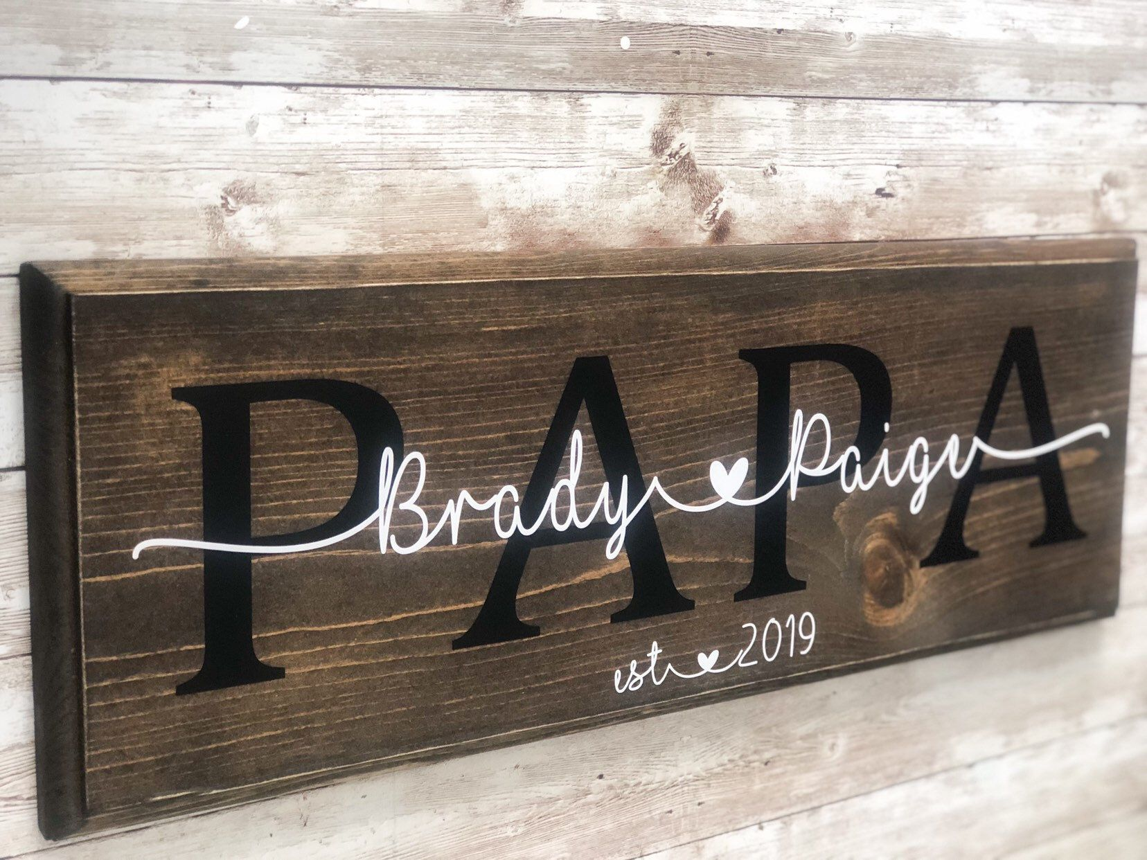 Dad Sign | Fathers Day Gift | Wooden Dad Sign | Dad and Kids | Gift for Dad | Personalized Gift | Grandparents Day Gift | Custom Dad Sign