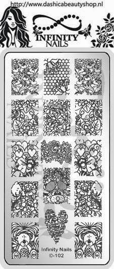 Hot Off The Stamping Press: New Dashica Beauty Infinity Nail Art Stamping Plates!