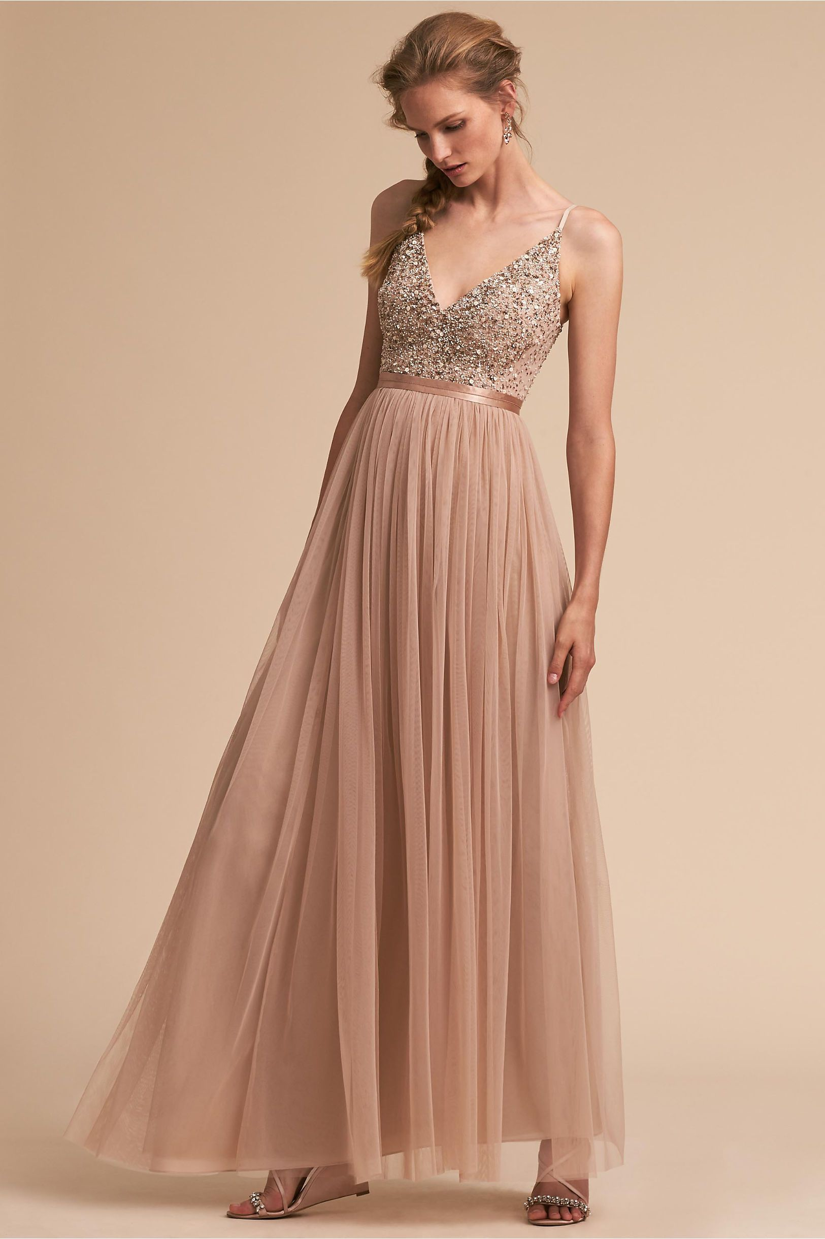 68c93e1cb4af BHLDN's Avery Dress in Blush | Products in 2019 | Bridesmaid dresses ...