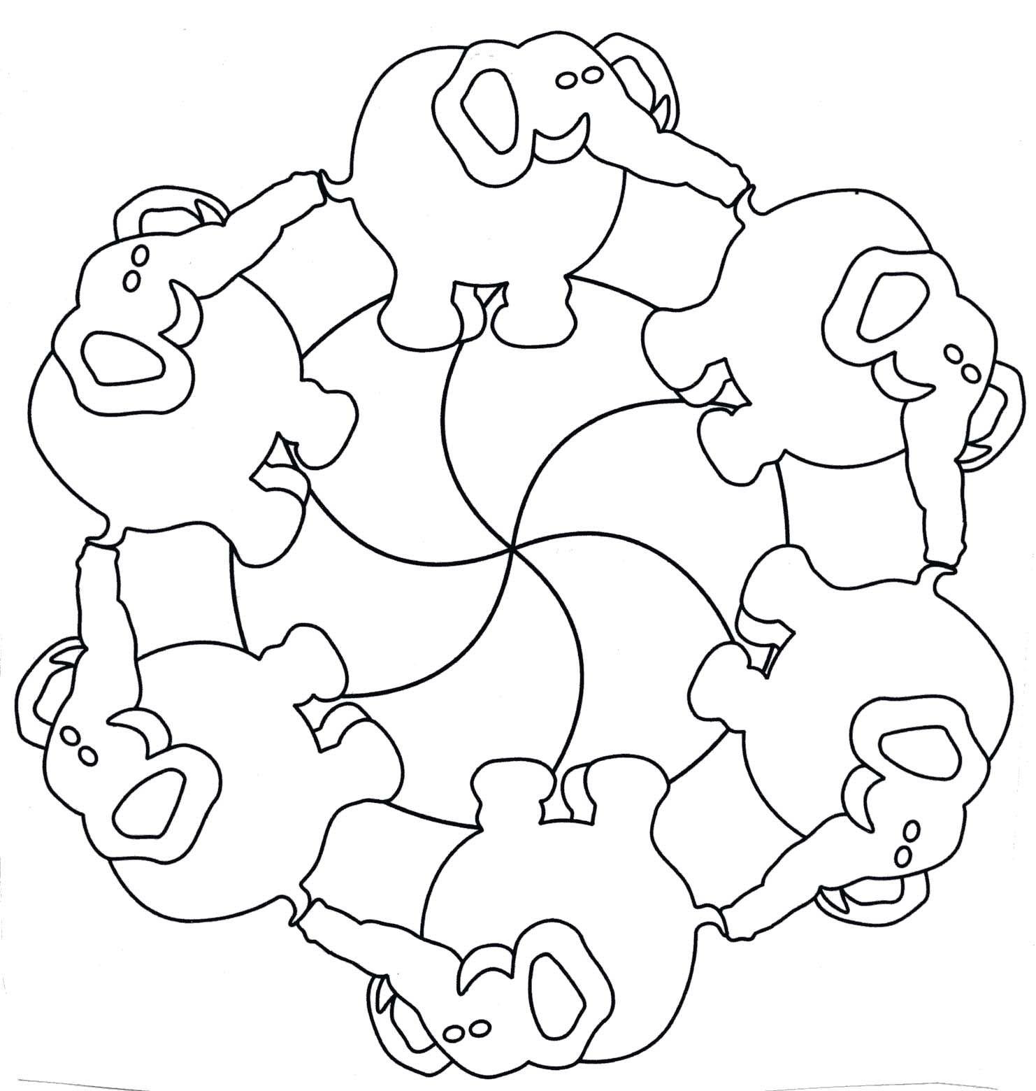 mandala kleuetrs olifant.jpg 1.482×1.560 píxeles | Olifant ...