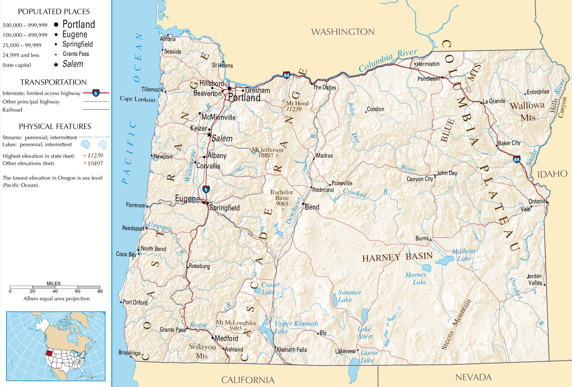 Free Oregon Map.Oregon Map Free Large Images States Pinterest Oregon Map