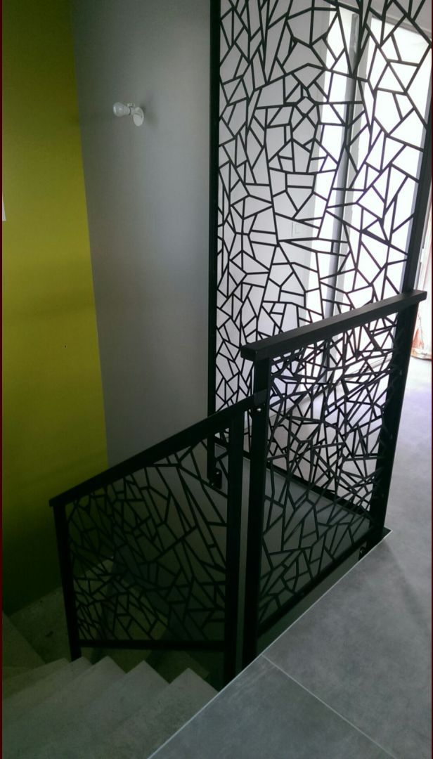 garde corps métal en découpe laser stairs sortavala Pinterest