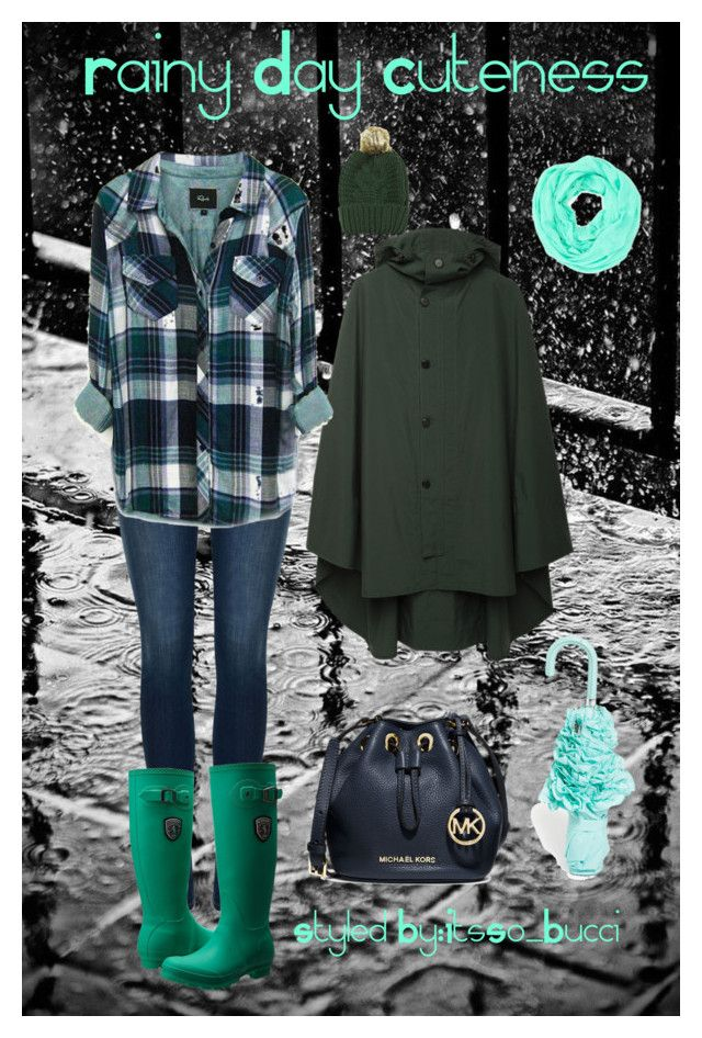 """""""rainy day Cuteness"""" by i-breath-style on Polyvore featuring polyvore, fashion, style, Rails, Postalco, J Brand, Kamik, MICHAEL Michael Kors, Forever 21, Cara Accessories, women's clothing, women's fashion, women, female, woman, misses and juniors"""