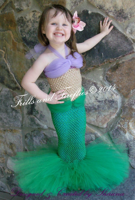 Mermaid Costume Little Mermaid Set w/Flower by FrillsandFireflies