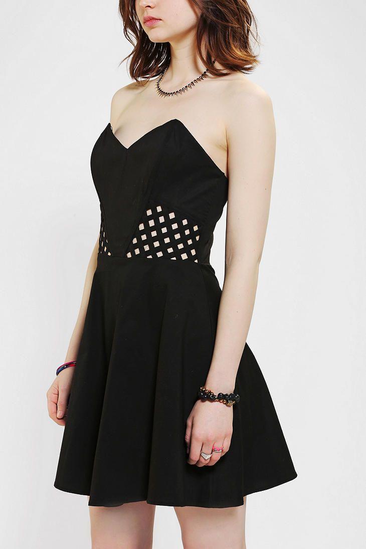 Sparkle u fade latticewaist strapless dress get in my closet