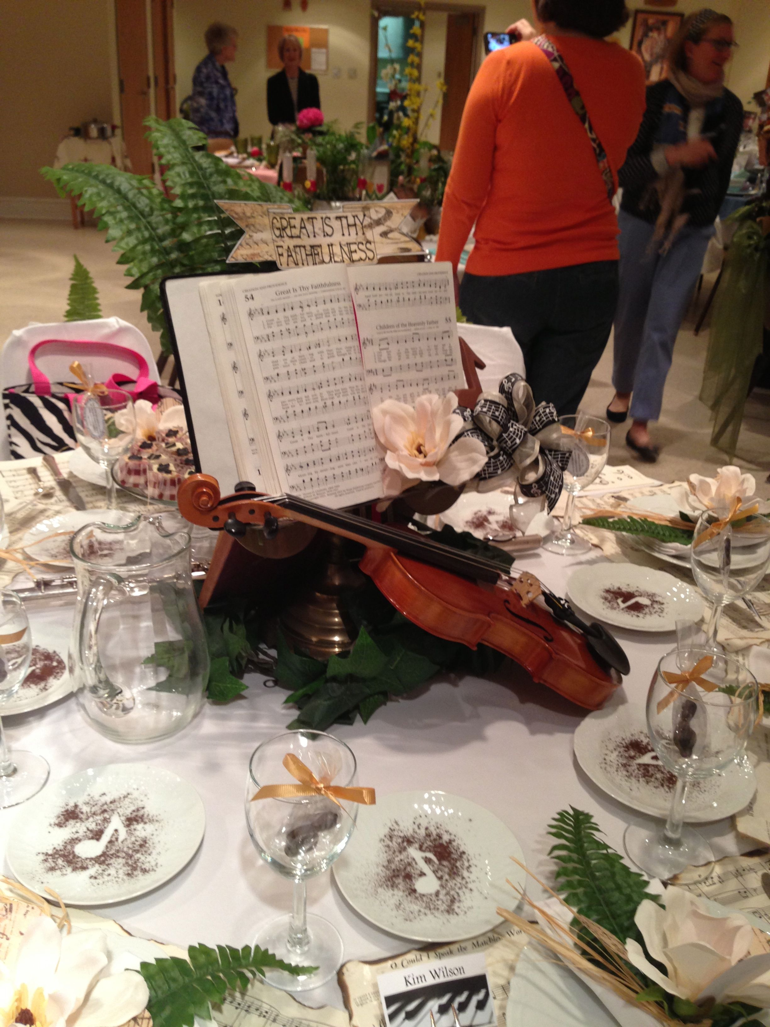 Taste And See Music Centerpieces Music Themed Wedding Christmas Luncheon