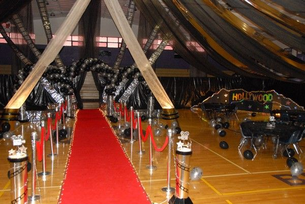 Ideas For Prom Decorations By Theme Prom Decor Hollywood Theme