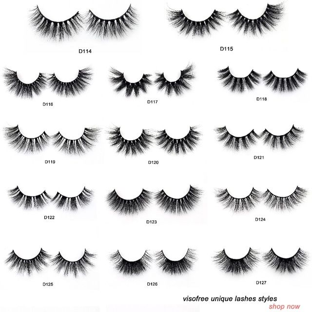 False Eyelashes Visofree Lashes High Volume 3d Mink Lashes Reusable Dramatic Eyelashes False Eyelashes D123