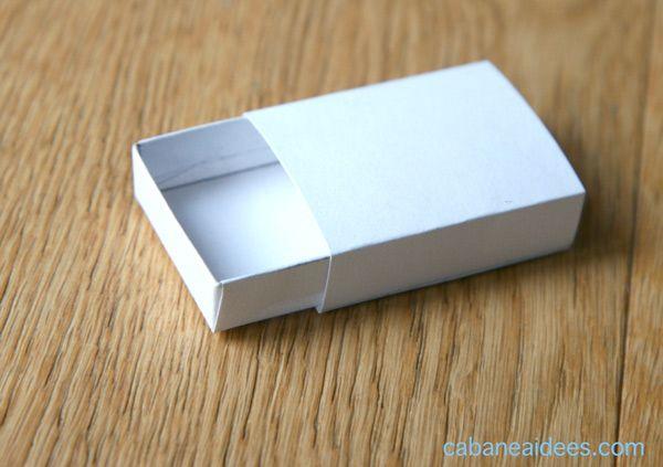 Fabriquer Une Boite D Allumettes Avec 2 Gabarits Gratuits Boites Allumettes Boite Alumette Petite Boite En Carton
