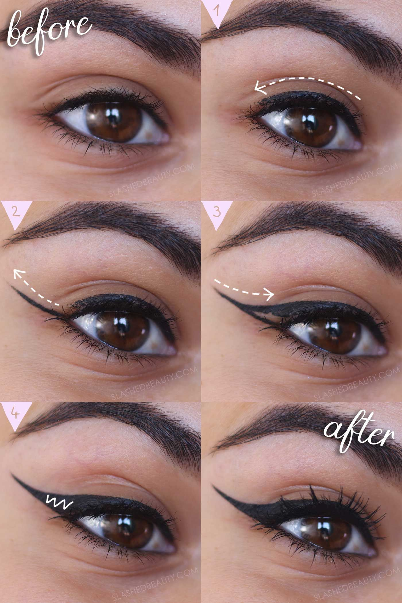 Eyeliner Guide & Winged Eyeliner Tutorial for Beginners in