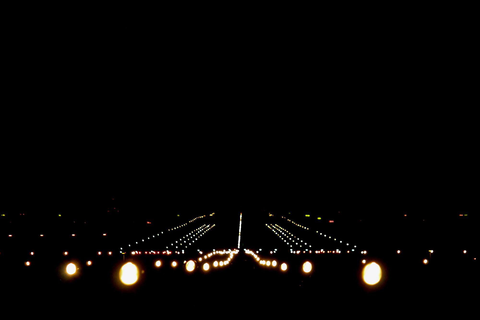 Copenhagen Airport Runway 22l At Night By Michael Lauritsen S