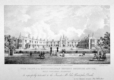The Metropolitan Benefit Societies' Asylum, Balls Pond Road, Islington, London Fine Art Print by Anonymous
