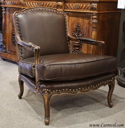 Wondrous Leather Country French Leather French Country Bergere Arm Pdpeps Interior Chair Design Pdpepsorg
