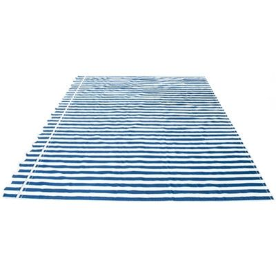 Aleko Rectangular Patio 13ft W X 10ft D Replacement Fabric Retractable Awning Blue White Fabric Aleko Awning