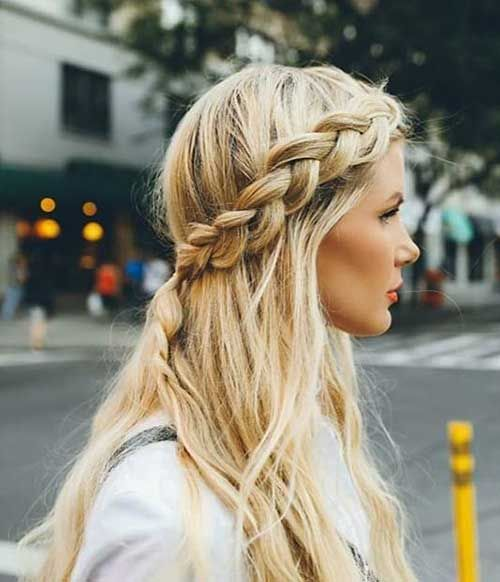 Braided half updo hairstyles hairstylesdyes pinterest half braided half updo hairstyles urmus Gallery