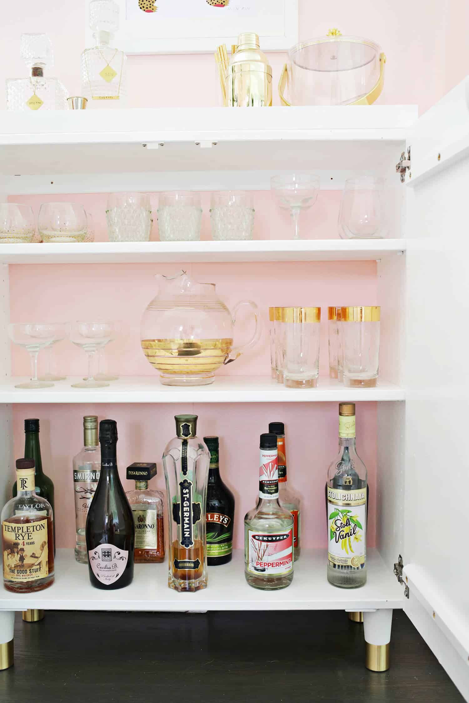 Ikea Ivar Cabinet Hack Turned Into A Bar Cabinet Ikea Ivar