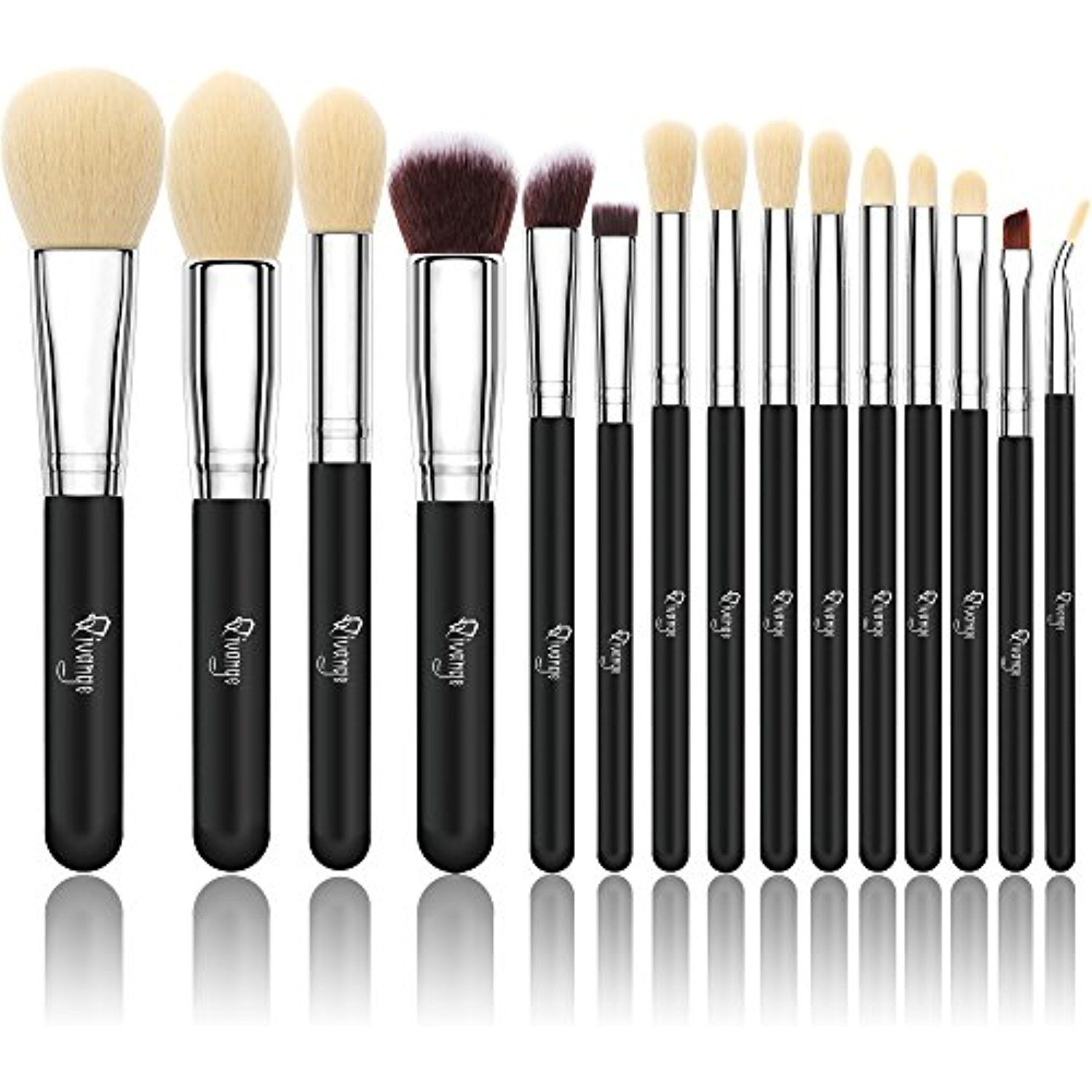 562375a7b4c7 Qivange Makeup Brushes, Synthetic Eyeshadow Bronzer Foundation ...