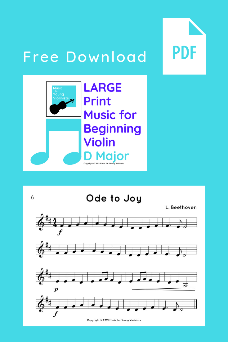 Ode to Joy sheet music for VIOLA & VIOLIN are the newest FREEBIES