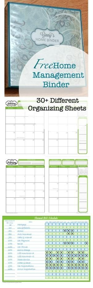 Free Home Management Binder Printables by Dreamin of ...