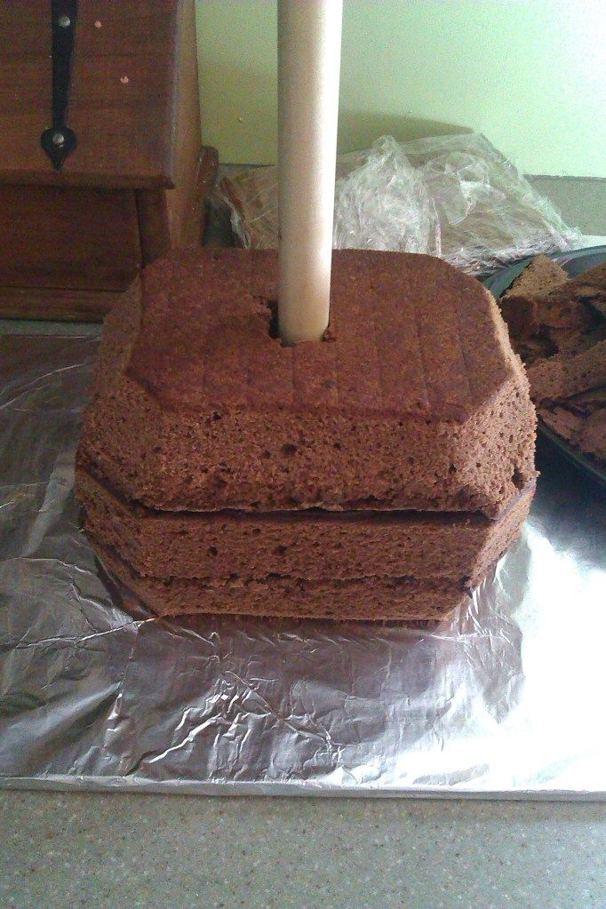 I used this recipe to make my vary first fully carved birthday cake