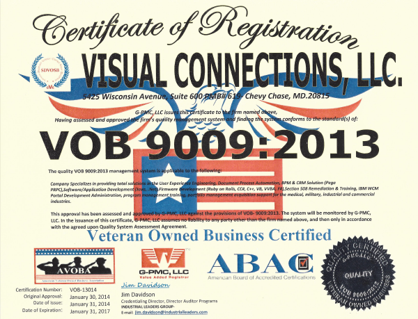 VOB 9009 Quality Certification Granted To Visual