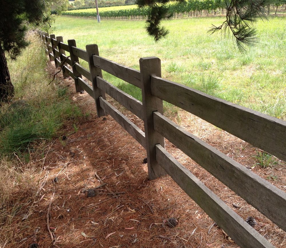 Post and rail timber fencing country farm