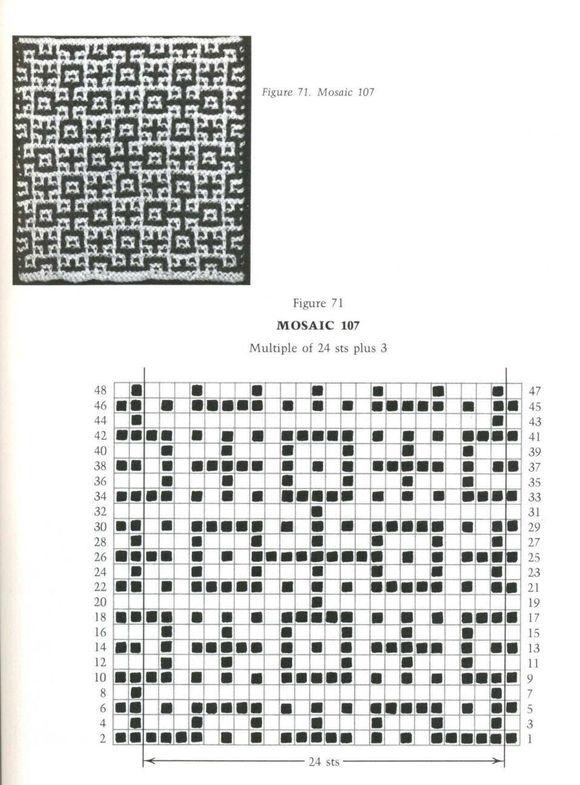 Mosaic Knitting Barbara G. Walker (Lenivii gakkard) Mosaic