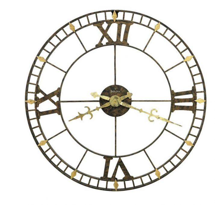 Extra Large Wall Clocks For Stylish Looking Wall Decoration. Roman Numeral Wall  Clock With Minute Indicators And Gold Clock Hands With Tail