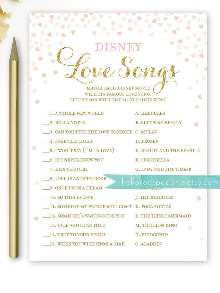 graphic regarding Bridal Games Printable identify 10 Printable Bridal Shower Online games On your own Can Do it yourself Disney