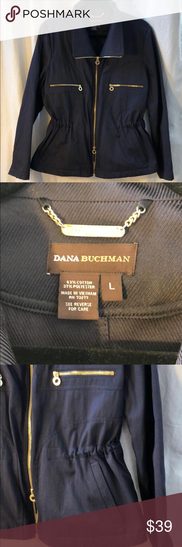 Dana buchman adjustable fit navy coat in my posh picks