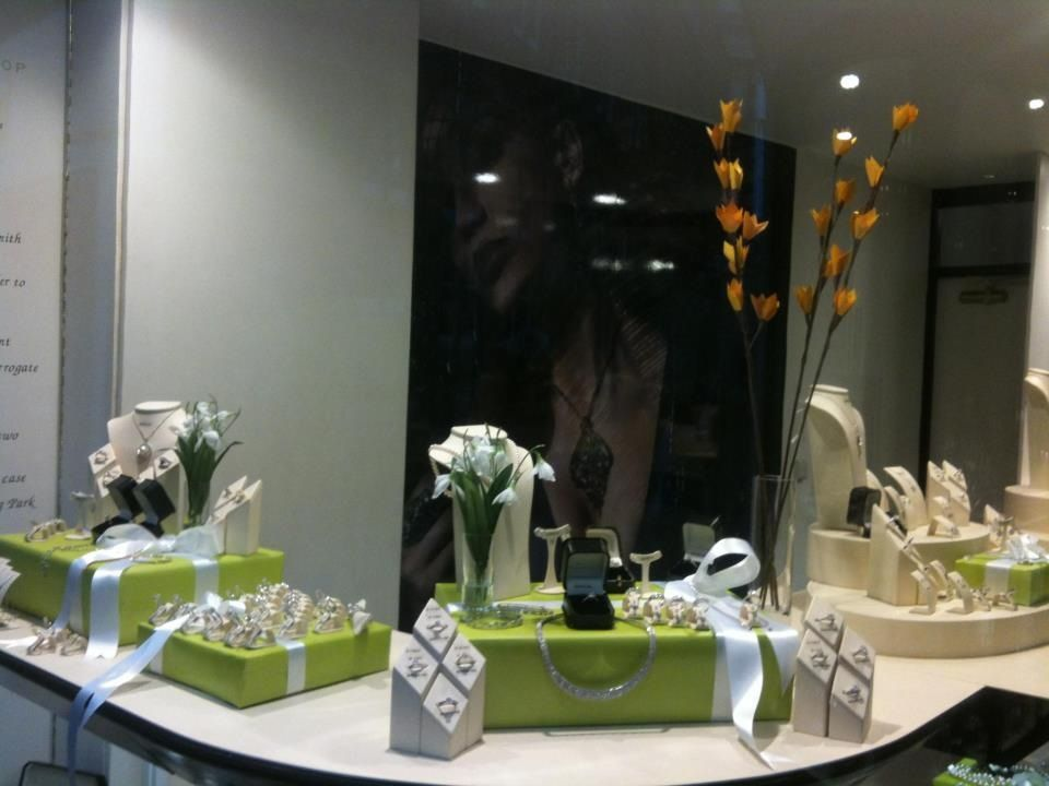 Spring display at The Little Diamond Shop. York