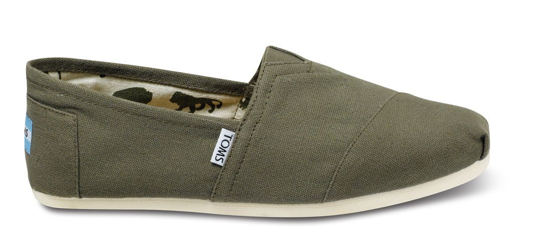 play in these! // www.TOMS.com/olive-canvas-classics-shoes // TOMS Olive Canvas Classics #shoes #TOMSshoes #OneforOne One for One