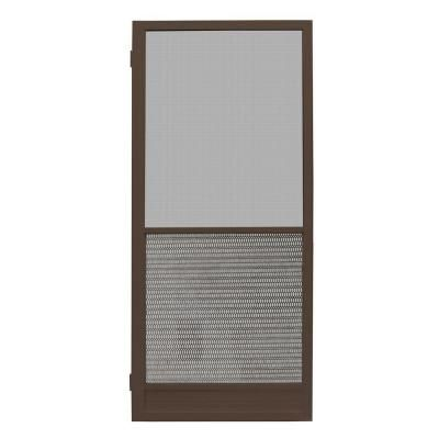 Unique Home Designs 32 In. X 80 In. Riviera Bronze Outswing Metal Hinged Screen  Door ISHM430032BRZ   The Home Depot