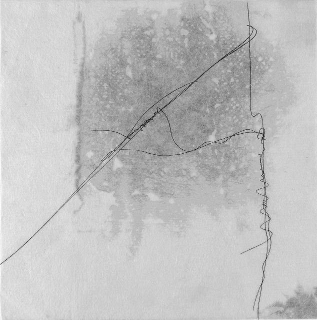 Hana Usui, Ohne Titel (Wien), 2011, Öl und Tusche auf Papier, 45 x 45 cm,
