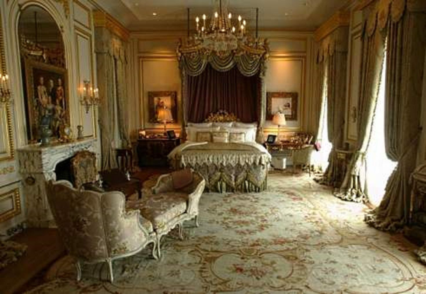 Bedroom Fleur De Lys Mansion Los Angeles California