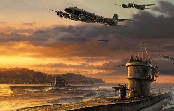 German u boat airplanes art war ww2 wallpapers aviation german u boat airplanes art war ww2 wallpapers thecheapjerseys Images