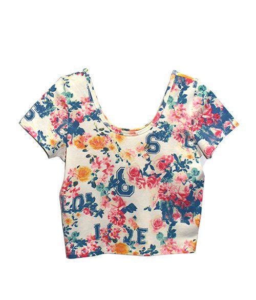 Kurzes Top mit Print - der Sommer kommt bald! 5,99€ jetzt in unseren Shops @ www.mycolloseum.com
