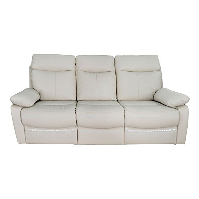 Contemporary Upholstered Reclining Leather Sofa With Dual Recliners Taupe Lane Recliner Chair Oversized For Medical Luxury
